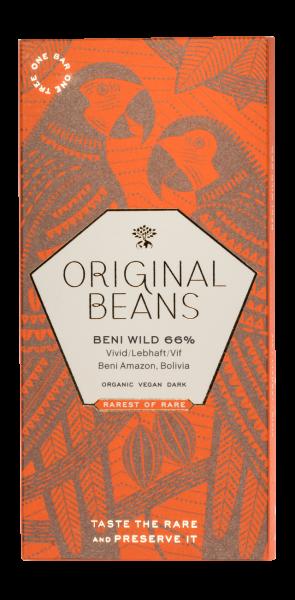 Beni Wild Harvest - BIO Dunkelschokolade, 66% Kakao, Blumenhonig, Aprikosen & Jasmintee Aroma, 70g
