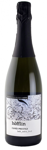 Weingut Höfflin, Sekt, 2017er Cuvée Prestige, Jahrgangssekt extra brut, Flaschengärung 0,75 l