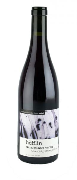 Weingut Höfflin, Rotwein, 2015er Spätburgunder Prestige aus der Traubenkirsche, 075 l