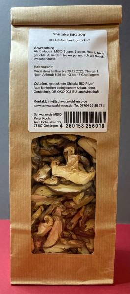 Shiitake BIO Pilze getrocknet aus Deutschland, 30g