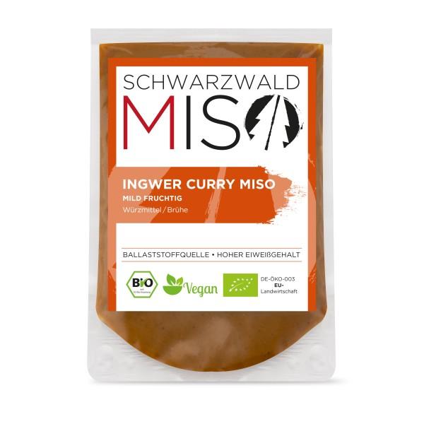 Ingwer Curry Miso BIO Paste 220g, Miso Paste, Miso Suppe