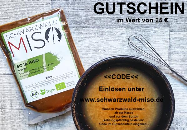 Schwarzwald-MISO Einkaufsgutschein 25 €